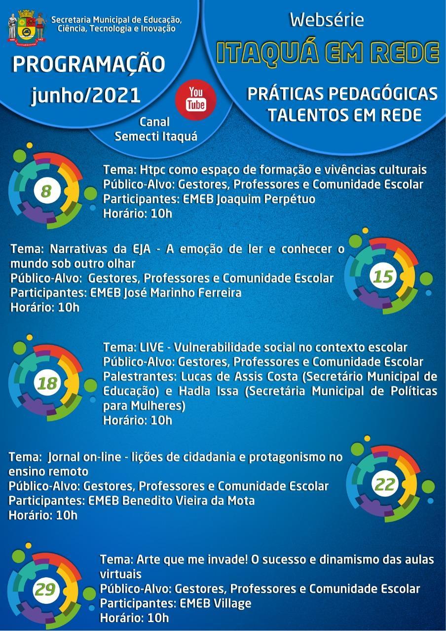 Websérie Itaquá em Rede abordará práticas pedagógicas de sucesso na edição de junho